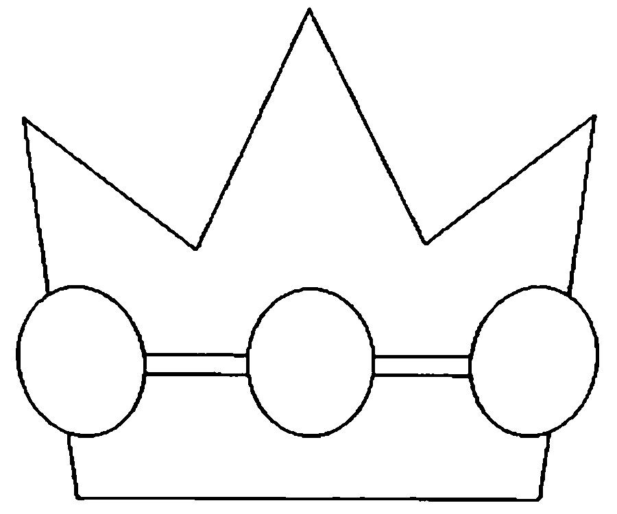 Coloring Crown  crown for the boys, a pattern of paper