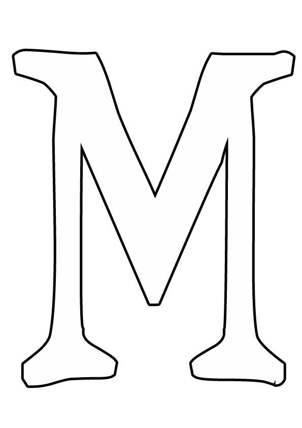 Розмальовки Букви з паперу буква м трафарет для дитячої творчості
