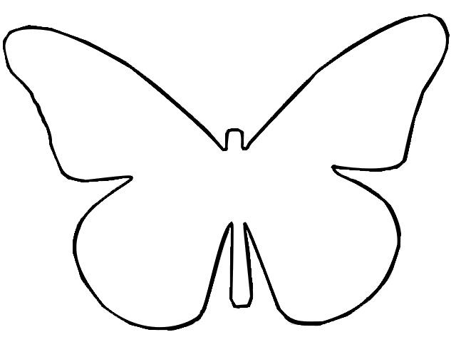Coloring cutting butterfly for cutting out paper templates for children