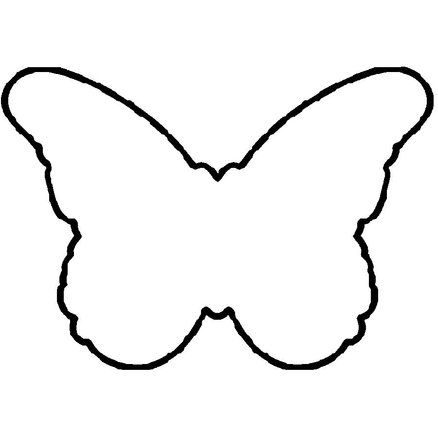Coloring butterfly cut paper Easy Butterfly Pattern for children