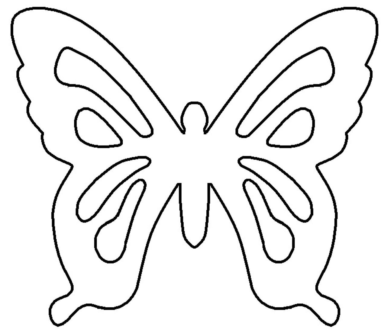 Coloring butterfly cut paper бабочка выкройка из бумаги, для детского творчества