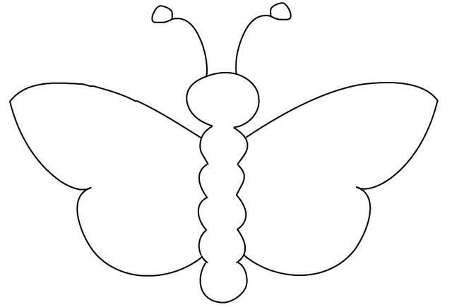 Coloring beautiful красивая бабочка шаблон для детского творчества