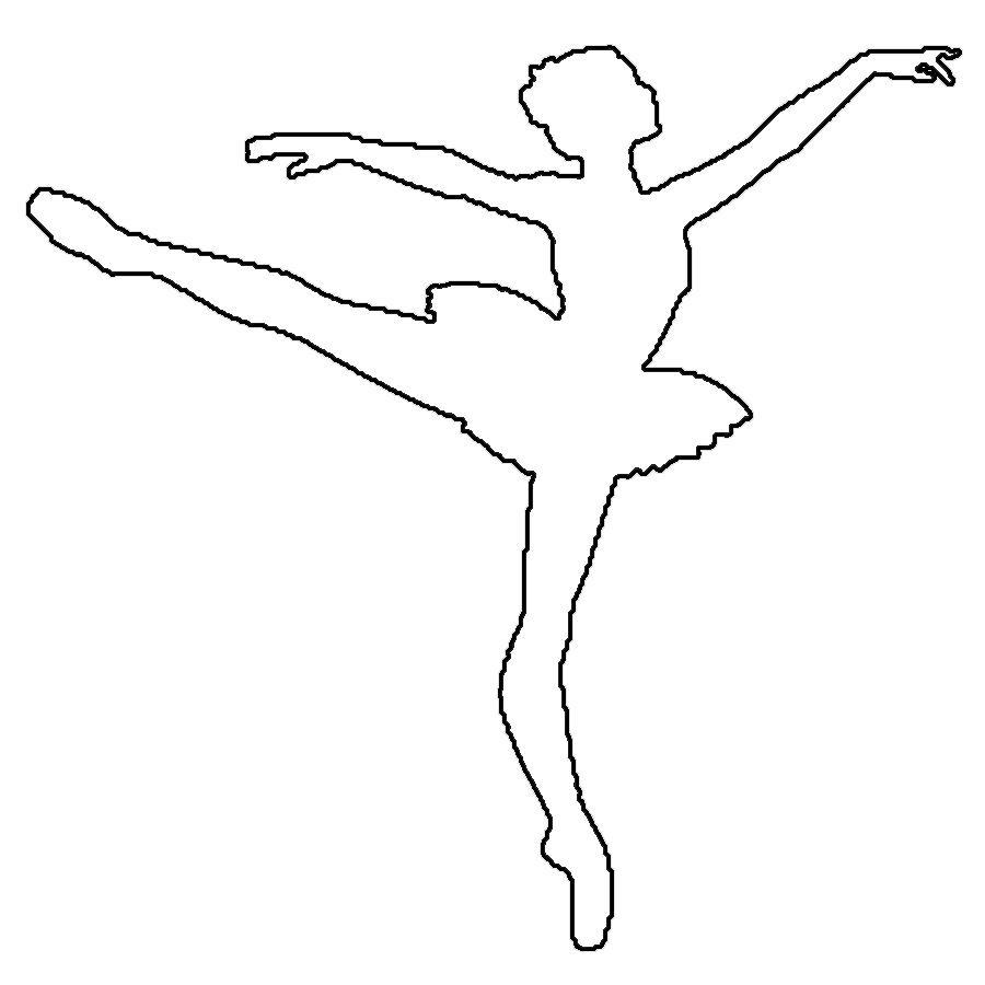 Розмальовки шаблони балерин балерина контур для вирізання з паперу, балерина шаблон