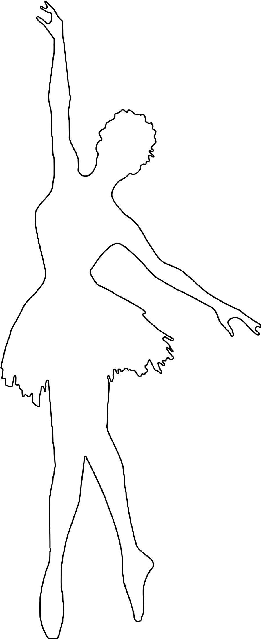 Розмальовки шаблони балерин балерина контур для вирізки з паперу, для дитячої творчості