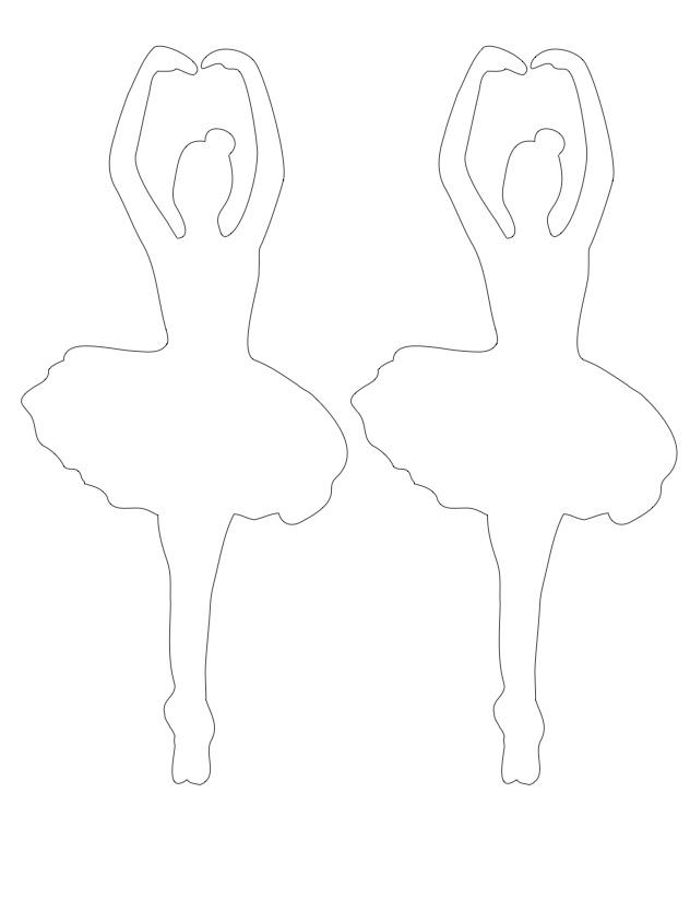 Coloring circuit Two ballerinas circuit for cutting paper