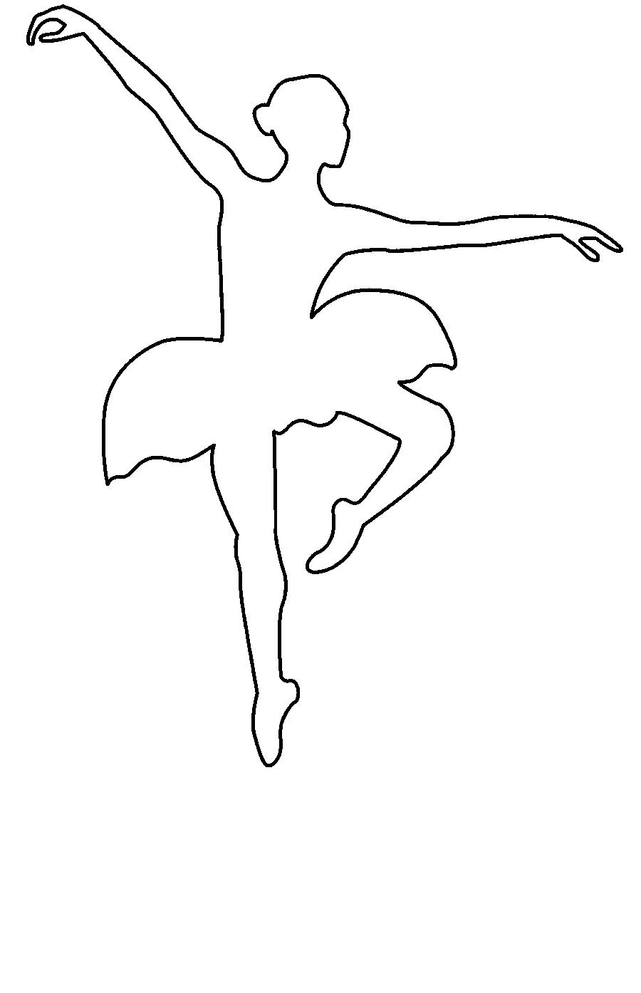Coloring circuit Ballerina jumping circuit for cutting paper