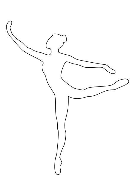 Розмальовки шаблони балерин балерина шаблон для вирізання з паперу