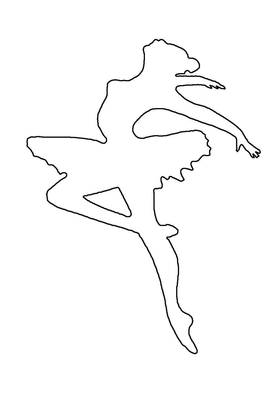 Розмальовки шаблони балерин балерина шаблон для вирізки з паперу, для дитячої творчості