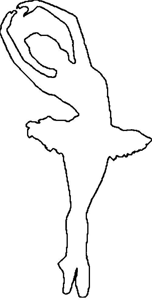 Розмальовки шаблони балерин балерина трафарет для вирізання з паперу