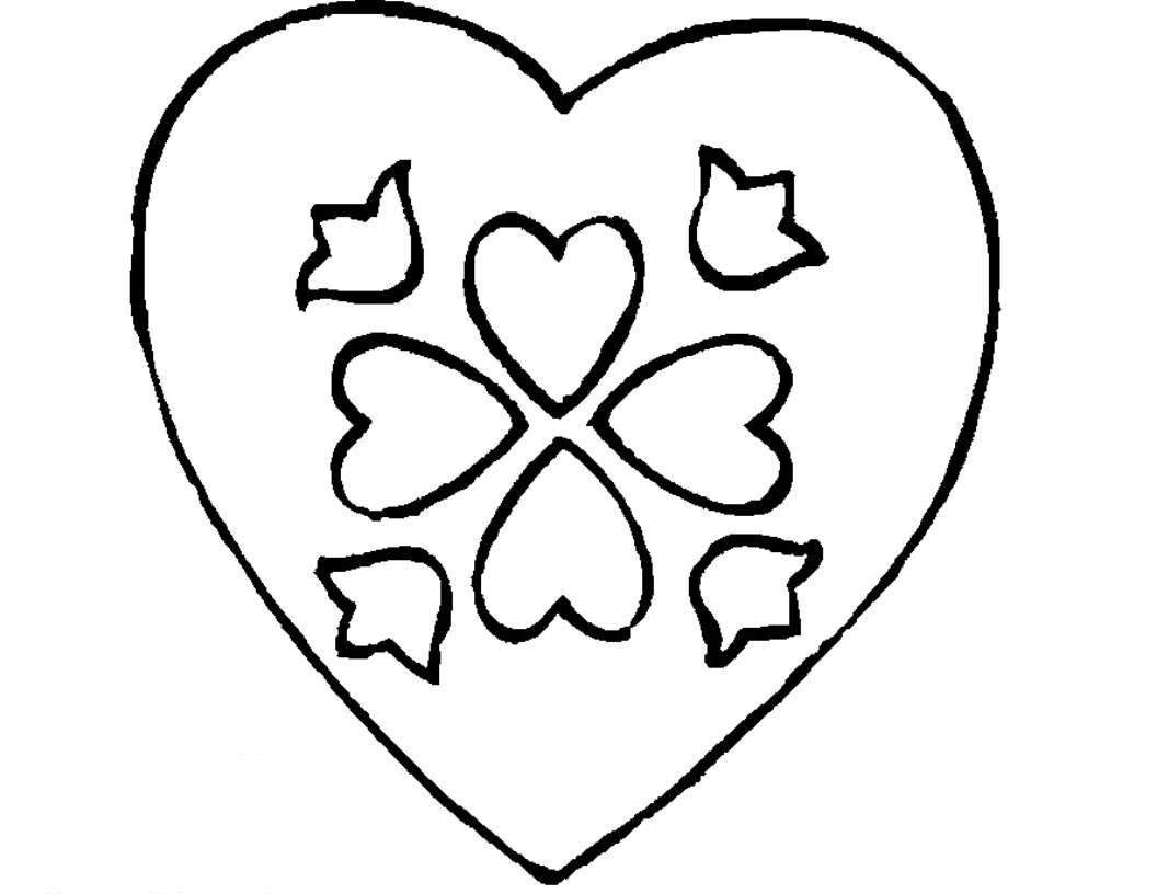 Coloring templates for cutting out hearts  heart outline for cutting paper