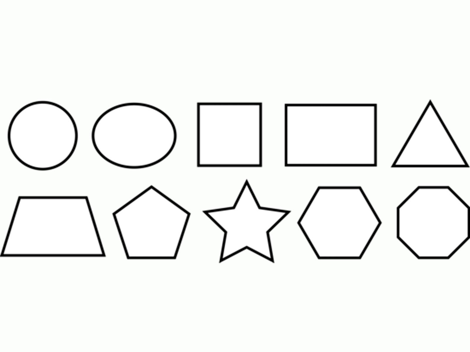 Coloring geometric shapes made of paper geometric shapes templates for cutting