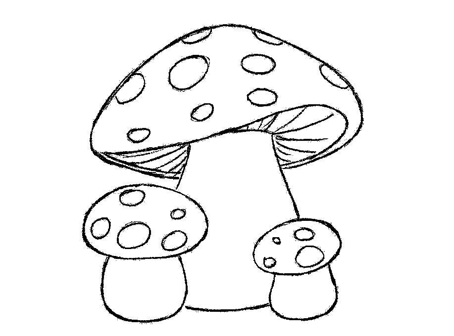 Розмальовки шаблон гриба мухомори для аплікацій, заготовки з паперу