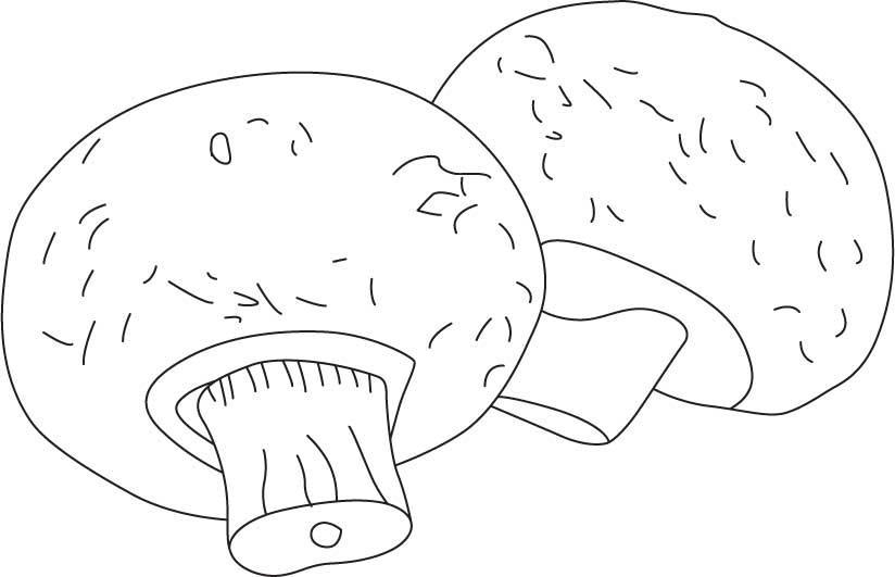 Розмальовки шаблон гриба великі гриби, шаблон для виробів з паперу