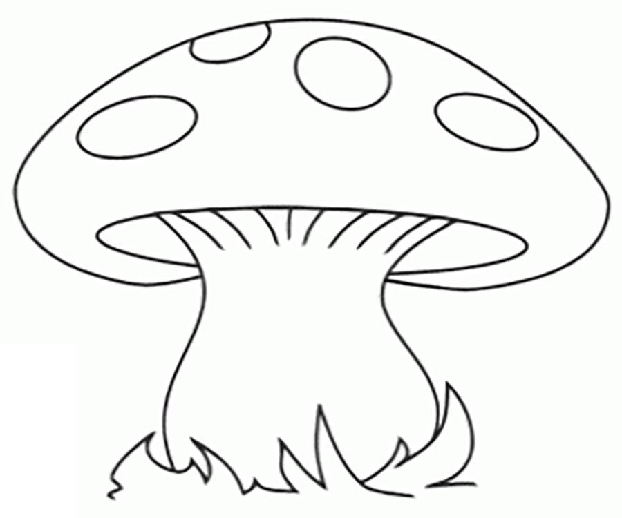 Розмальовки шаблон гриба гриб мухомор шаблон для виробів з паперу
