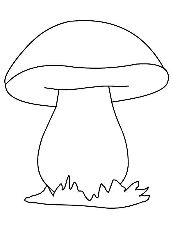 Розмальовки шаблон гриба гриб в траві шаблон для аплікацій, контур