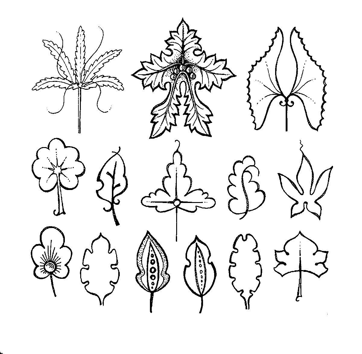 Раскраски вырезания вырезаем листья, шаблоны для вырезания