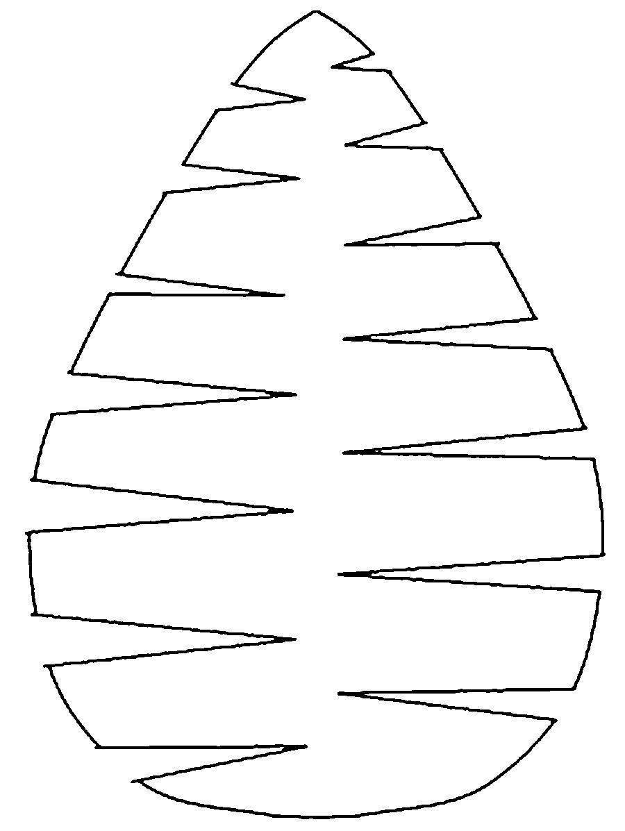 Раскраски вырезания шаблон листа пальмы для вырезания