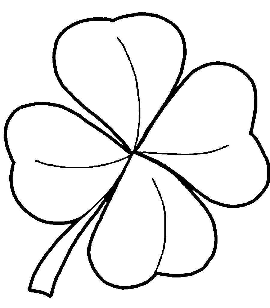 Раскраски лист один лист клевера шаблон