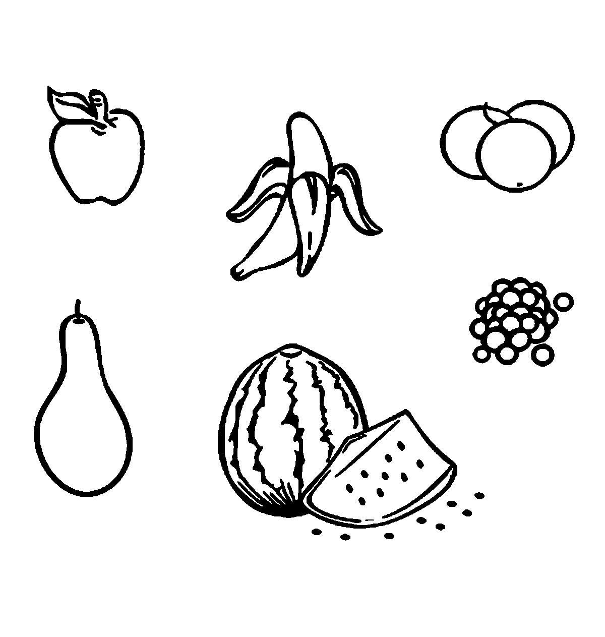 Раскраски вырезания фрукты контур, шаблон для вырезания из бумаги
