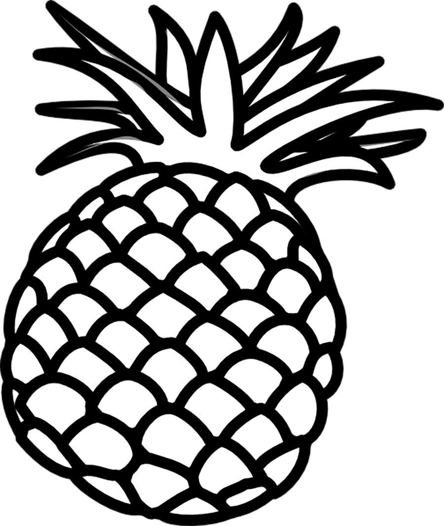 фрукты и овощи Раскраски распечатать бесплатно.