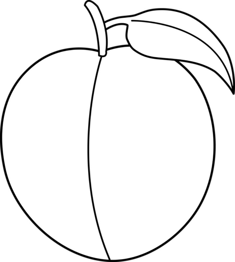 Контурные картинки для детей фрукты