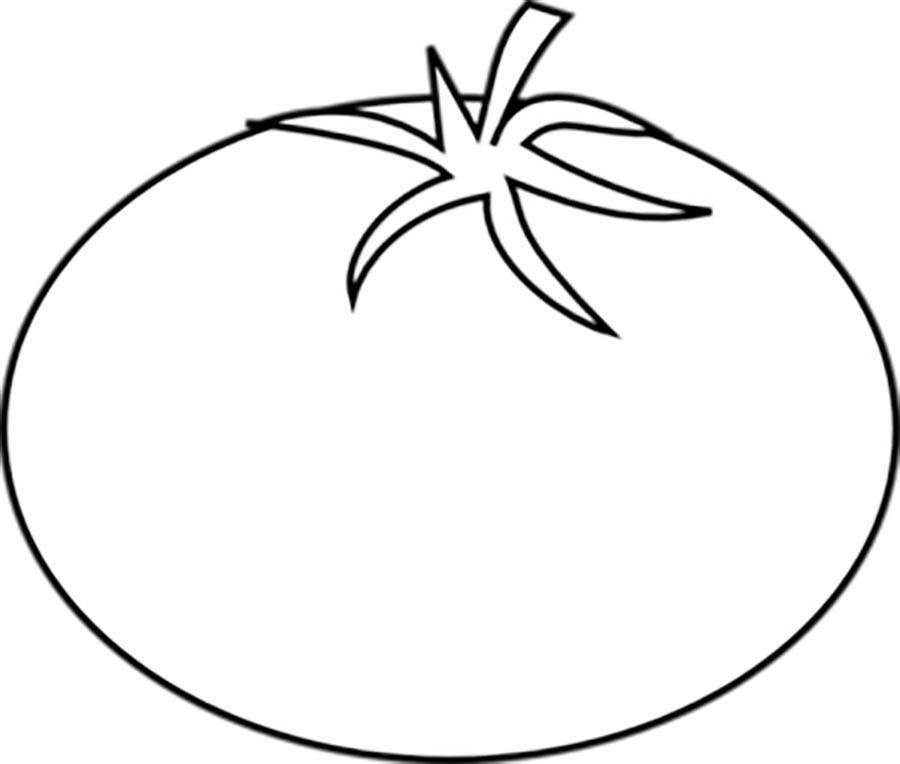 Раскраски помидор помидор контур, овощи контур для вырезания из бумаги
