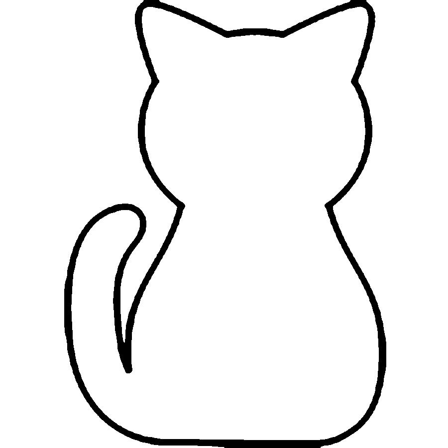Coloring Animal Pattern cat contour animals for cutting paper