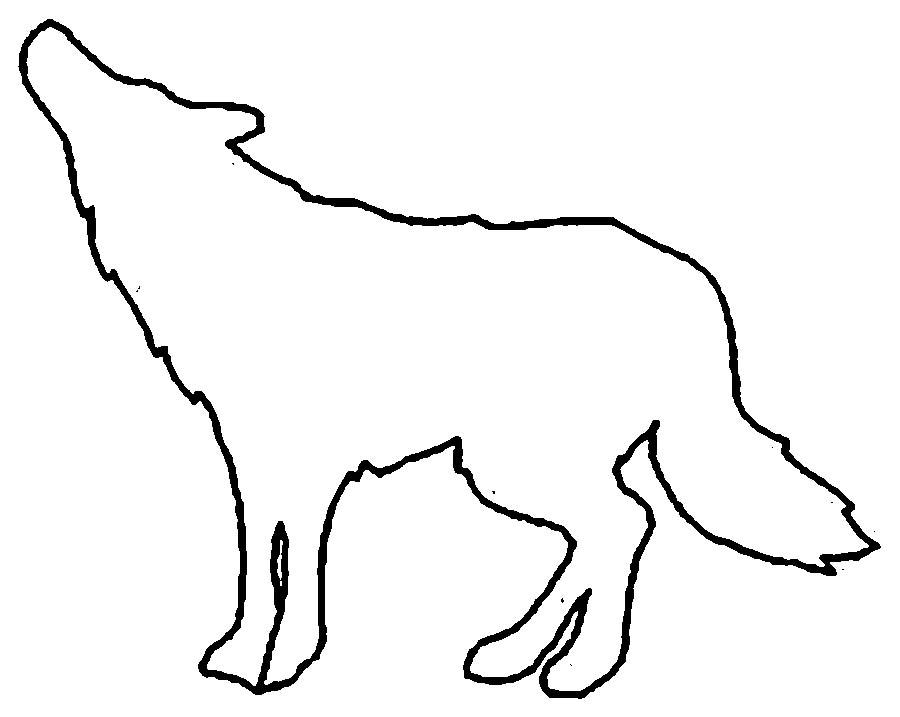 Coloring Animal Pattern Wolf contour animals for cutting paper