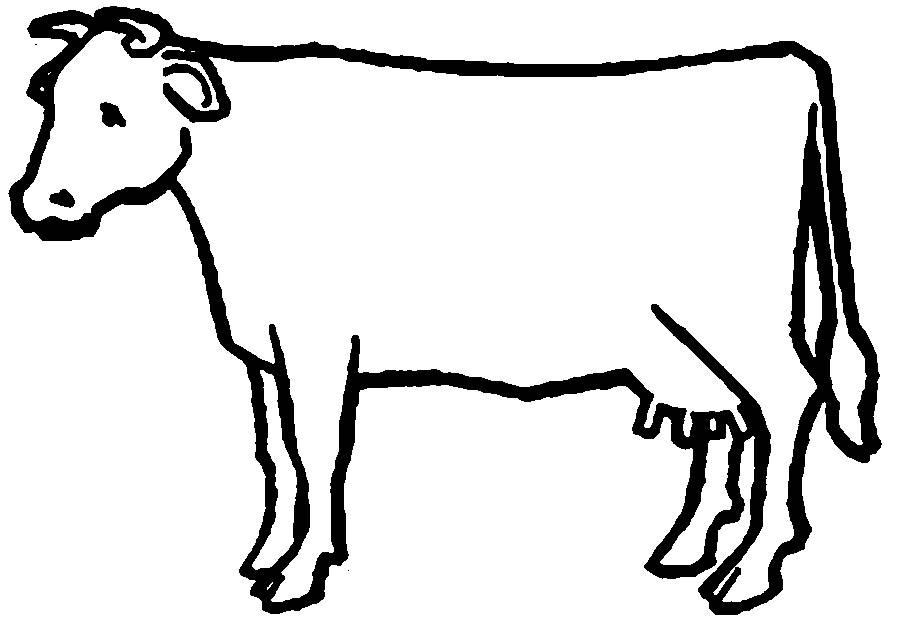 Coloring Animal Pattern Cow contour animals for cutting paper