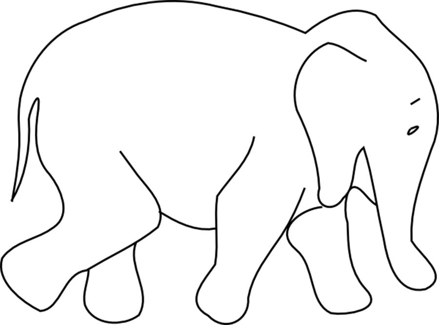 Coloring Animal Pattern Elephant contour animals for cutting the stencil paper