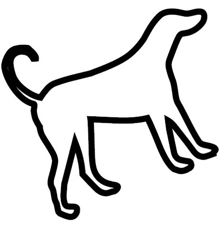 Coloring Animal Pattern dog circuit animals stencil for cutting paper