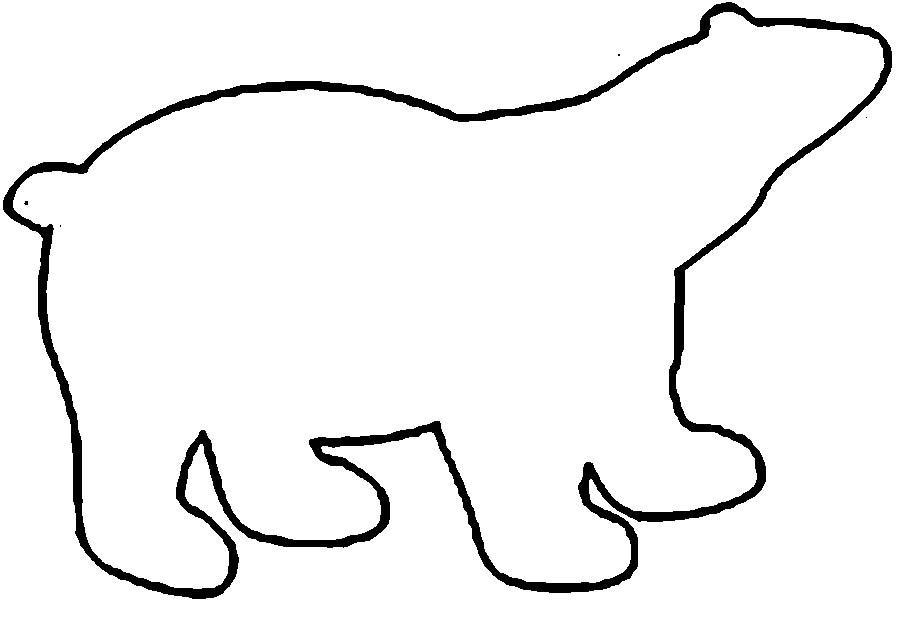 Coloring Animal Pattern Bear contour animals trafarkt for cutting paper