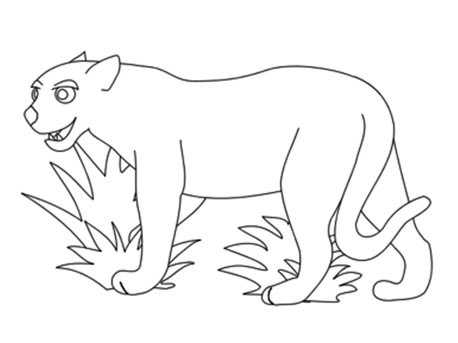 Coloring Animal Pattern Lion contour animals for cutting the stencil paper