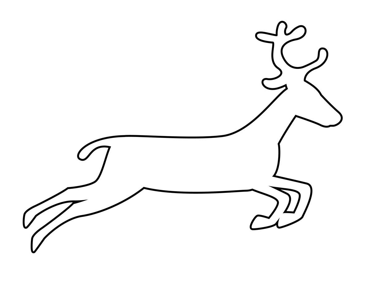 Coloring Animal Pattern deer path, animal stencil for cutting paper