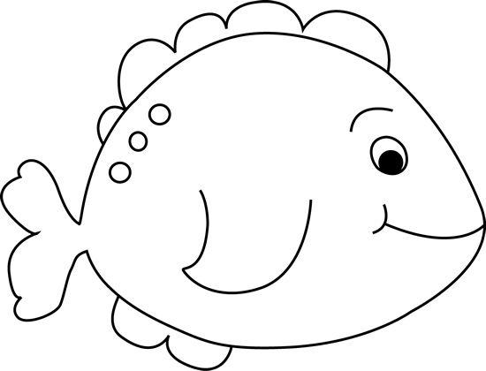 Coloring fish fish outline for cutting paper