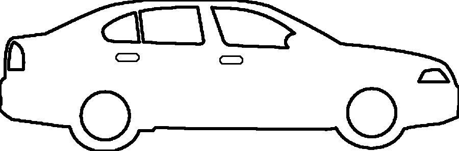 Розмальовки шаблон машини машина трафарет для вирізання з паперу