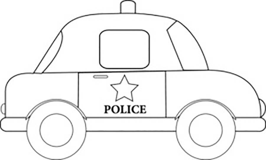 Розмальовки шаблон машини поліцейська машина трафарет для вирізання з паперу