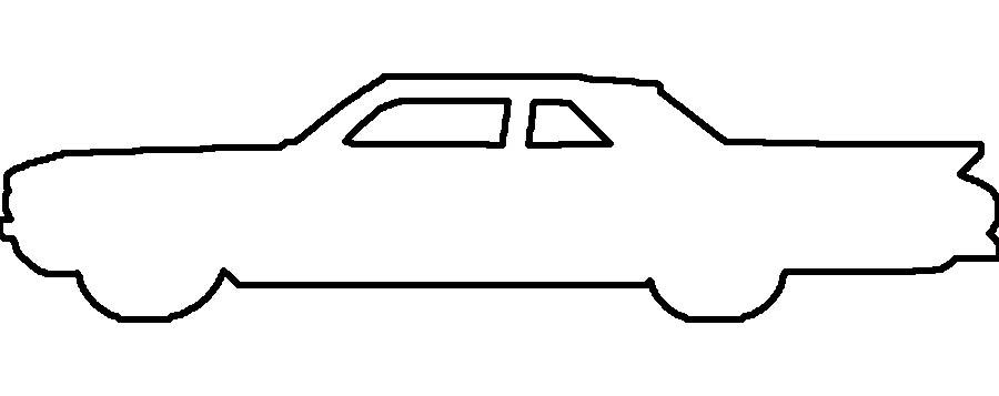Розмальовки шаблон машини стильна машина трафарет для вирізання з паперу