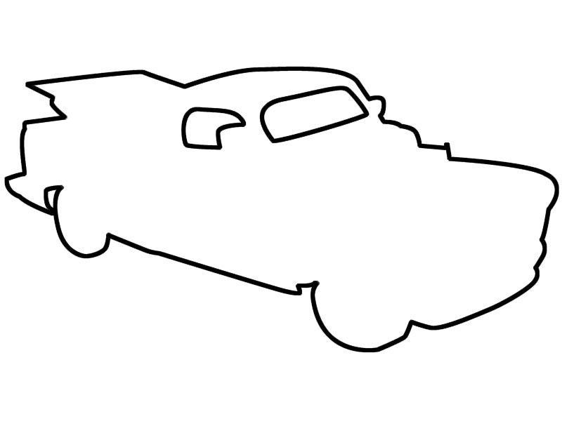 Розмальовки шаблон машини трафарети машини для дітей