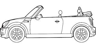 Розмальовки шаблон машини трафарети для вирізання з паперу машини, роздрукувати