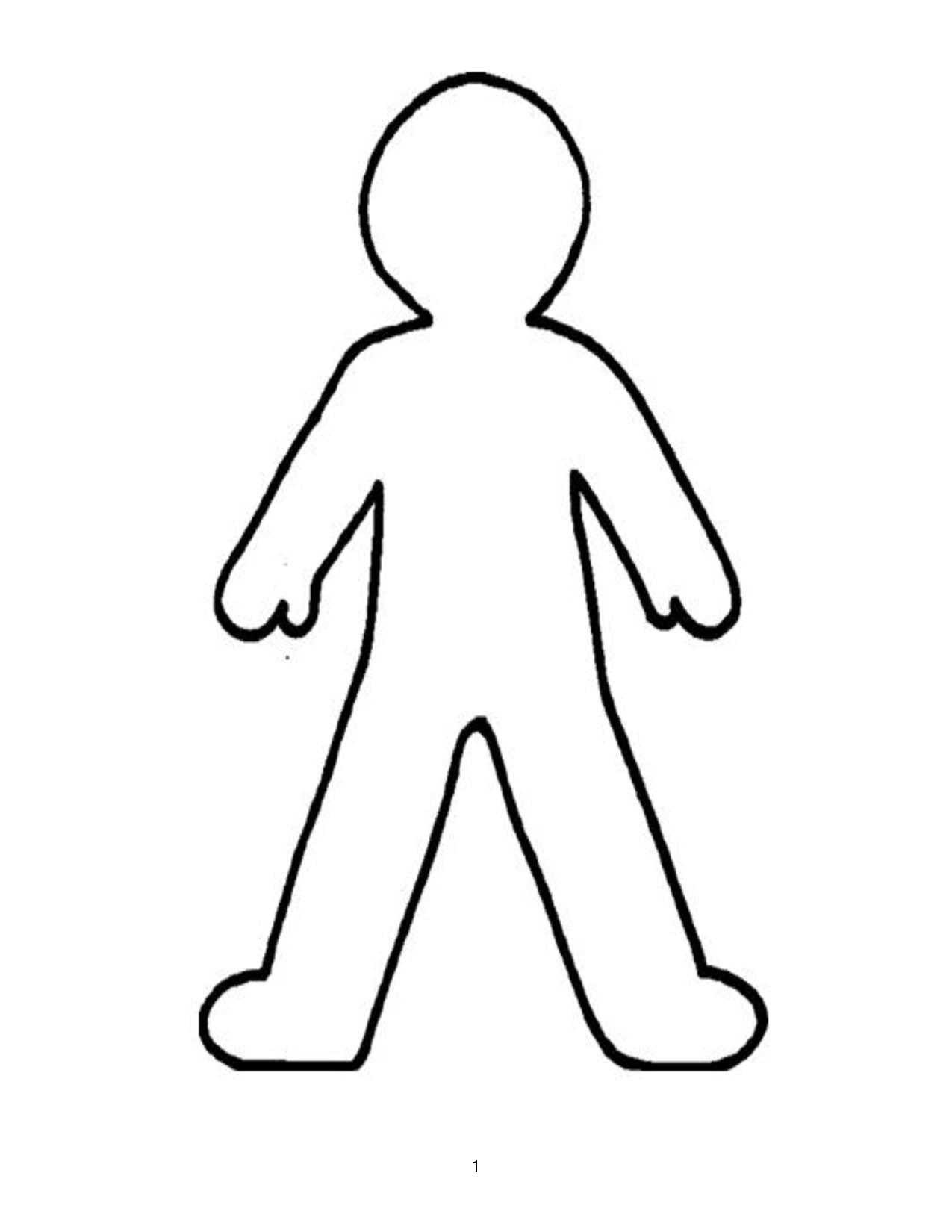 Coloring Pattern person man pattern to cut paper