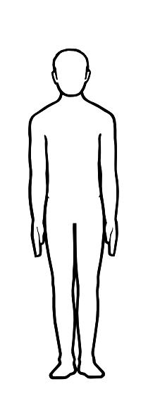 Coloring Pattern person template man template for cutting paper