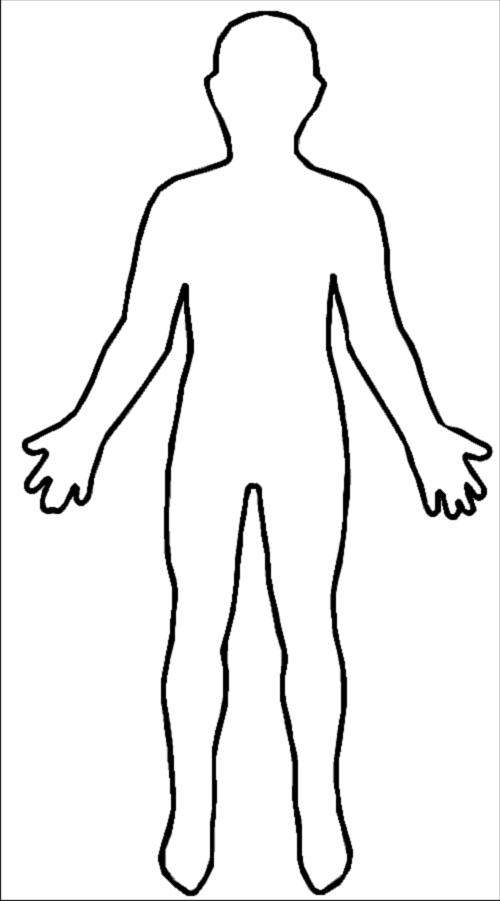 Coloring Pattern person Template human pattern to cut paper
