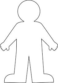 Coloring Pattern person template, stencil, contour man for cutting paper