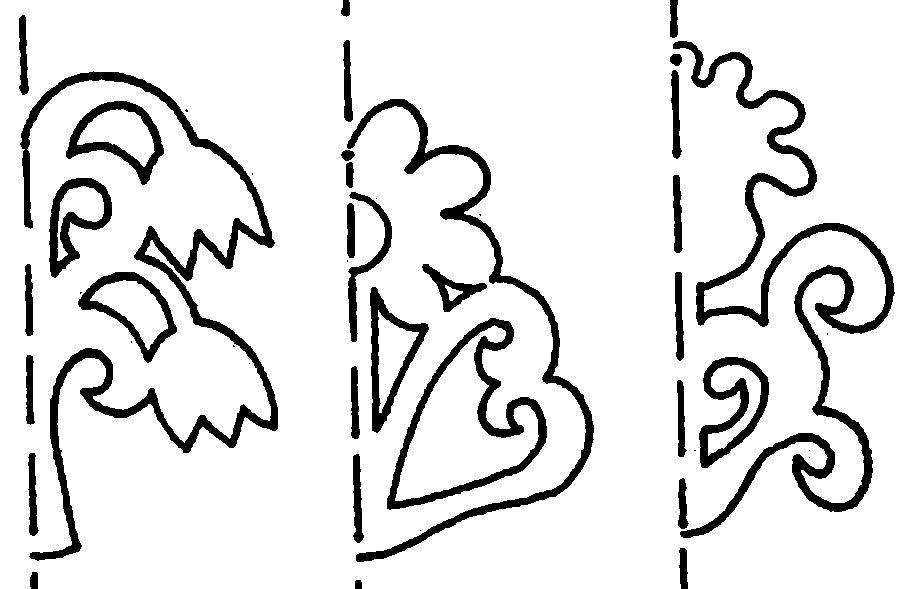 Coloring stencil patterns stencil designs, flowers, bells, daisy