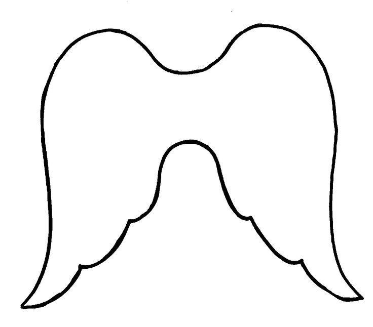 Розмальовки Ангел крила ангела контур для вирізання з паперу