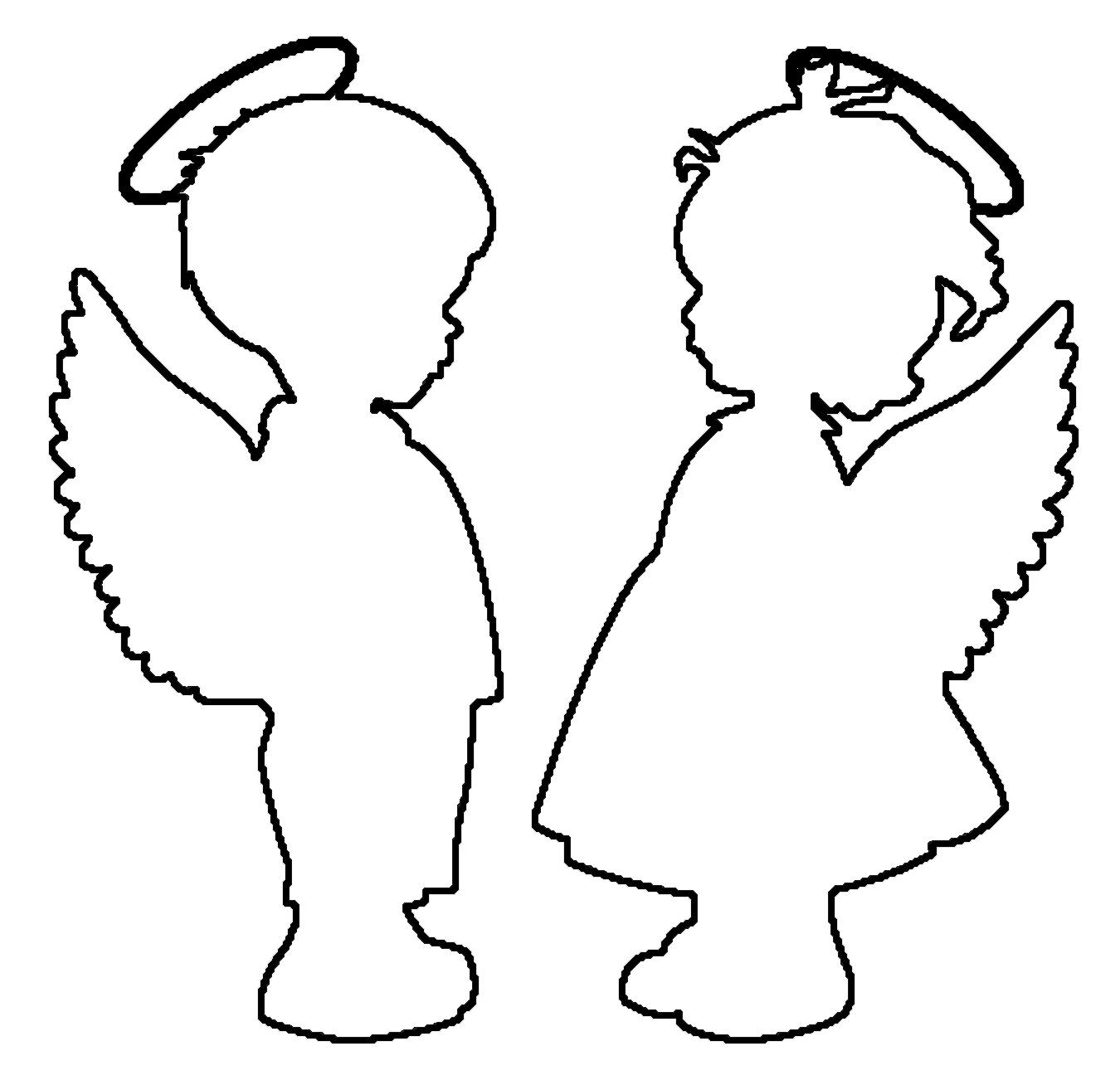 Coloring circuit angels circuit pattern to cut paper for children