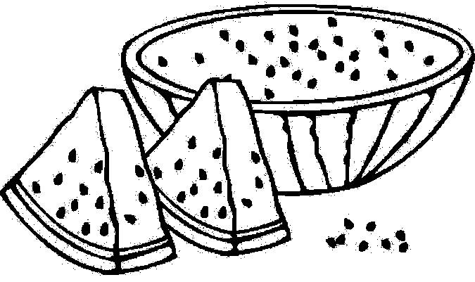 Розмальовки трафарет кавун контур, ягоди трафарет для вирізання з паперу