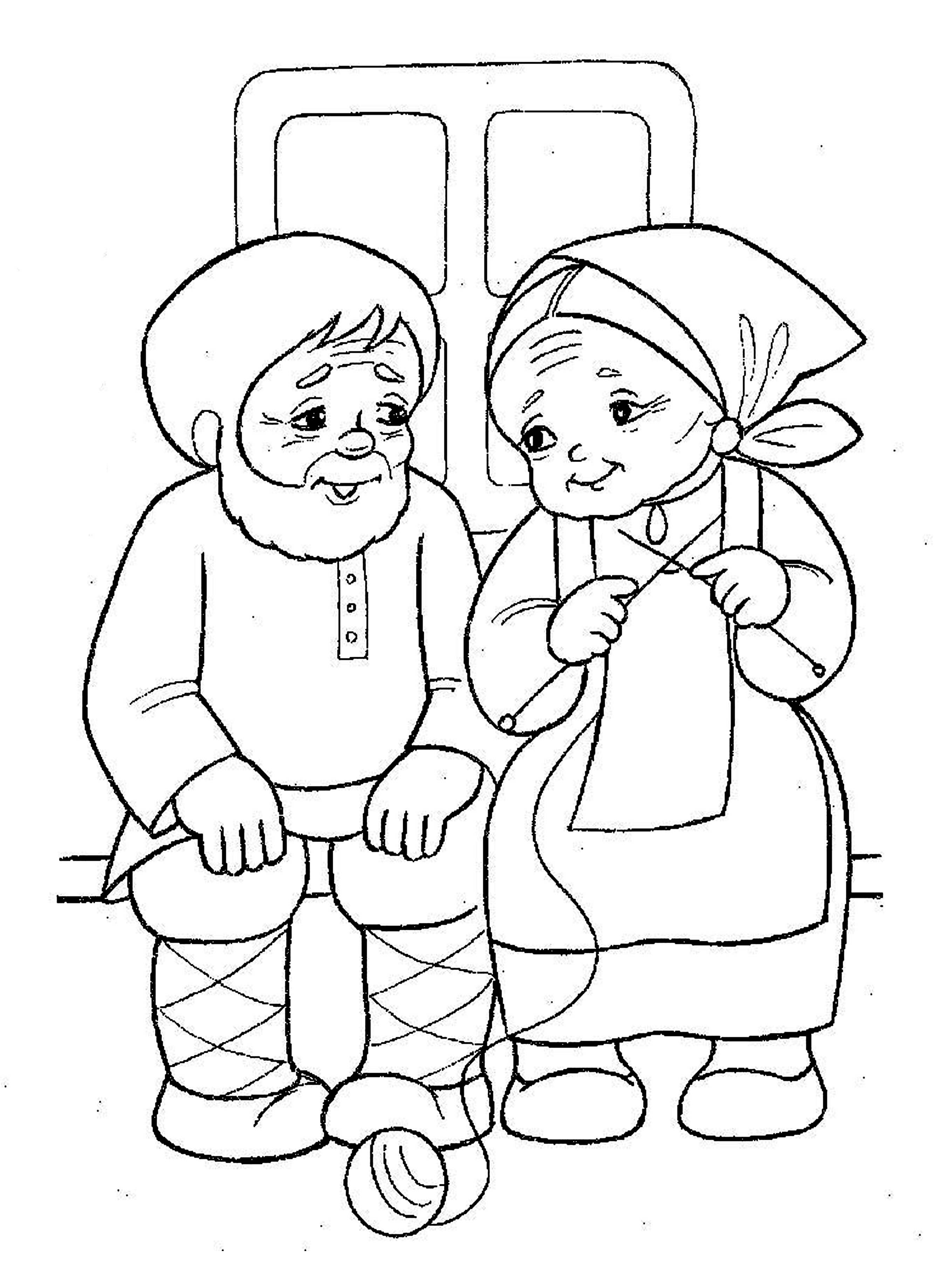 Coloring coloring pages to the tale bun How ugly did Gingerbread with grandparents, that he was callous,