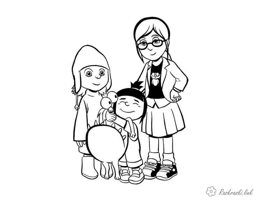 Розмальовки агнес сестри з міньйон